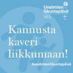 Menovinkki senioreille Unelmien liikuntapäivänä 10.5.